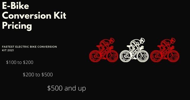 E-Bike Conversion Kit Pricing 2021