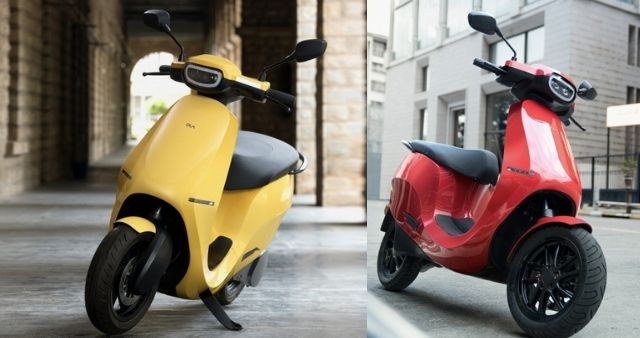 Ola Electric Scooter S1 Color red yellow